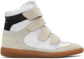 Isabel Marant Off-White Suede Bilsy Wedge Sneakers