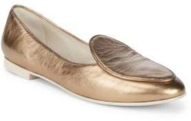 Giorgio Armani Almond Toe Leather Loafers