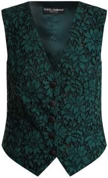 Dolce & Gabbana Cordonetto-lace waistcoat