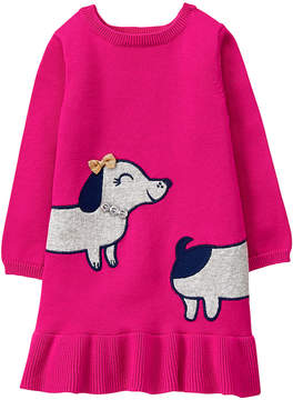 Gymboree Pink Dachshund Sweater Dress - Infant & Toddler