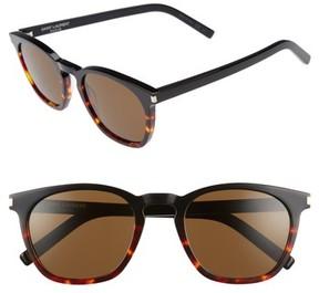 Saint Laurent Women's Sl 28 51Mm Keyhole Sunglasses - Black