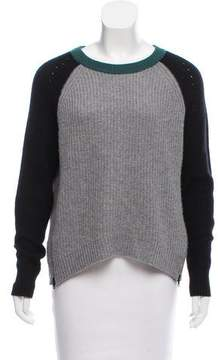 Autumn Cashmere Long Sleeve Colorblock Sweater