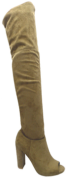 Wild Diva Taupe Morris Over-the-Knee Boot
