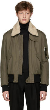 Saint Laurent Khaki Bad Lieutenant Bomber Jacket