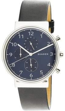 Skagen Men's Ancher SKW6417 Silver Leather Japanese Quartz Fashion Watch