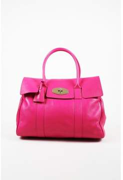 Mulberry Pre-owned Fuchsia Pink Pebbled Leather Top Handle bayswater Bag.