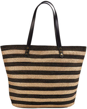 San Diego Hat Company Women's Gold Stripe Poly Braid Tote