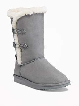Old Navy Sueded Button-Loop Boots for Girls