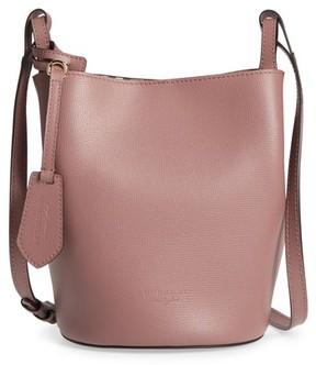 Burberry Small Lorne Leather Bucket Bag - Purple - PURPLE - STYLE