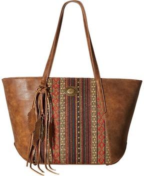 American West Serape Zip Top Tote Tote Handbags