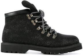 Twin-Set lace-up glitter boots