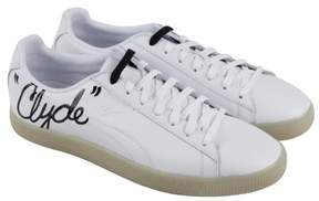 Puma Clyde Signature Ice White Black Mens Lace Up Sneakers