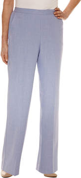 Alfred Dunner Woven Flat Front Pants-Misses Short