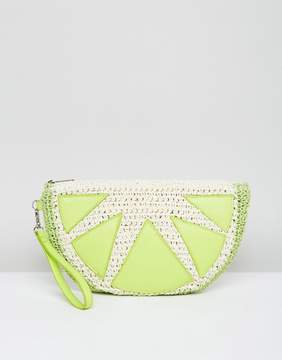 Asos BEACH Lime Clutch Bag