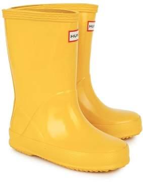 Hunter Yellow First Gloss Wellington Boots