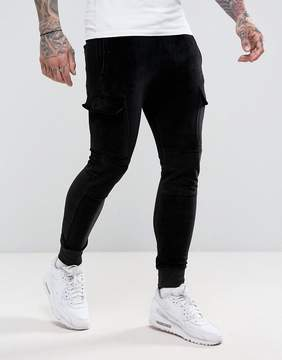 Religion Velour Joggers With Pocket