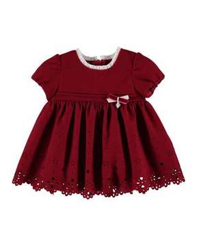 Mayoral Scalloped-Hem Cutout Dress, Size 6-36 Months