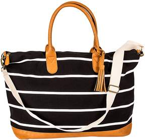Cathy's Concepts Personalized Striped Canvas Oversized Weekender Tote