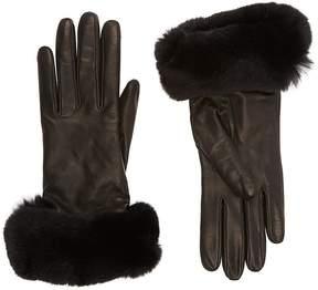 Barneys New York Women's Fur-Cuff Gloves