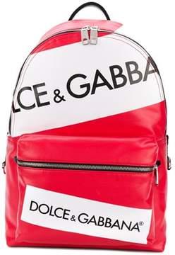 Dolce & Gabbana Dolce E Gabbana Men's White/red Cotton Backpack.