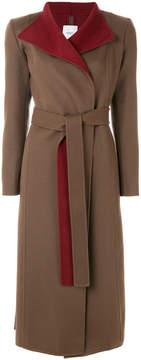 Agnona contrast lapel coat