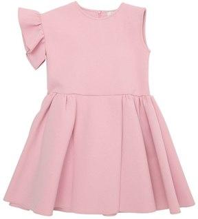 No Added Sugar Cotton Interlock Dress W/ Ruffled Sleeve