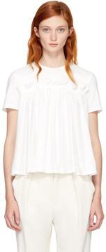 Edit White Gathered T-Shirt