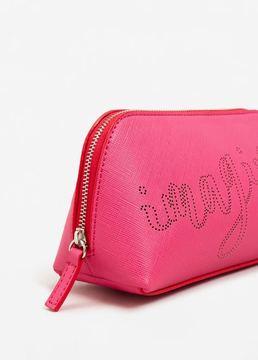 MANGO Laser-cut pebbled cosmetic bag