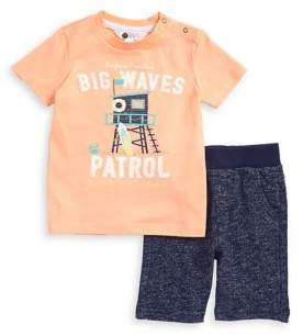 Petit Lem Baby Boy's Cotton Two-Piece Tee and Shorts Set