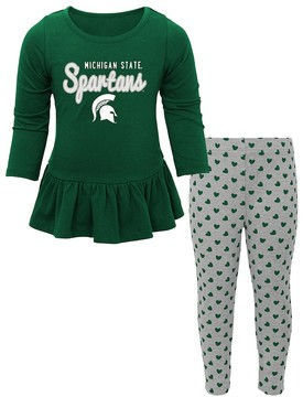 NCAA Baby Michigan State Spartans Tiny Trainer Tee & Leggings Set