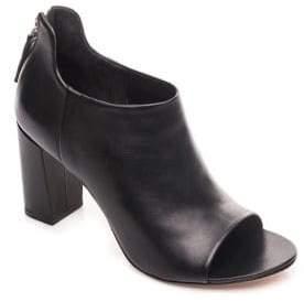 Bernardo Heather Leather Open Toe Booties