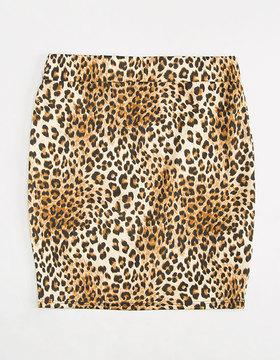 Full Tilt Leopard Bodycon Girls Skirt
