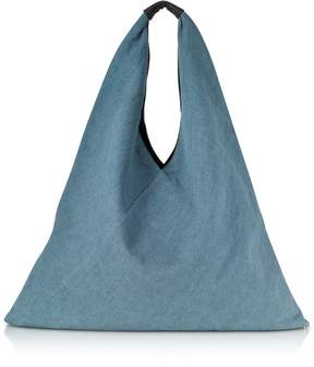 MM6 MAISON MARGIELA Mm6 Maison Martin Margiela Vintage-wash Denim Japanese Tote Bag