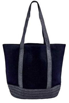 Women's San Diego Hat Company Canvas Tote with Paperbraid Handles BSB1705