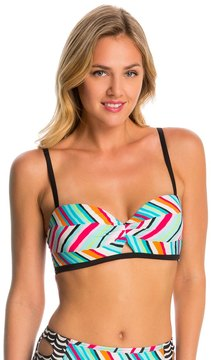 Coco Rave Swimwear Summer Patch Peeka-Boo Underwire Bralette Bikini Top - 8144638