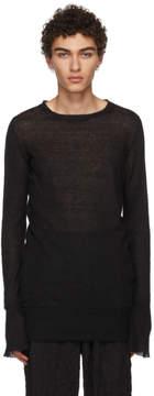 Ann Demeulemeester Black Corrola Knit Sweater