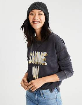 American Eagle Outfitters AE Metallic Graphic Sweatshirt