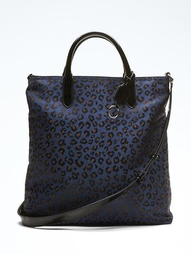 Zip-Top Animal Print Tote