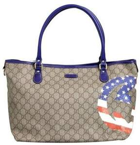 Gucci Limited Edition American Flag Coated Canvas Tote Bag. - AMERICAN FLAG - STYLE