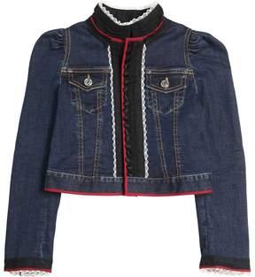 DSQUARED2 Stretch Denim & Lace Jacket
