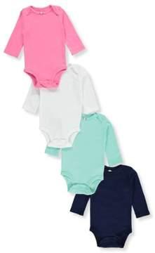 Carter's Baby Girls' 4-Pack L/S Pointelle Bodysuits - pink, newborn