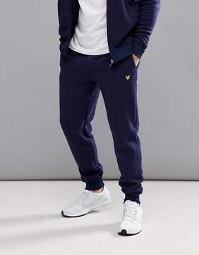 Lyle & Scott Fitness Fergusson Knitted Fleece Jogger In Navy