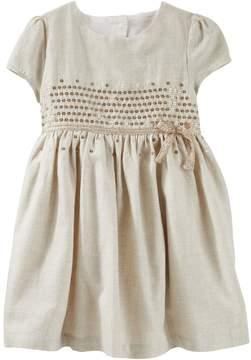 Osh Kosh Toddler Girls Sequined Flannel Dress