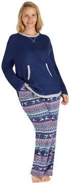 Cuddl Duds Plus Size Pajamas: Fleece Top & Pants PJ Set
