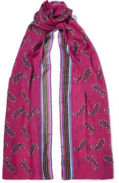 Etro Printed Cashmere Scarf - Bright pink