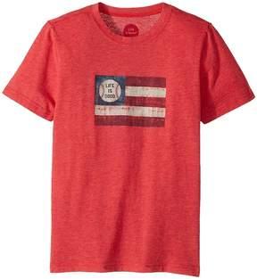 Life is Good Baseball Flag Cool Tee Boy's T Shirt