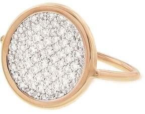 ginette_ny Small Diamond Disc Ring