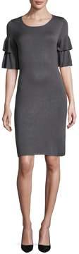 Donna Ricco Women's Ruffle Sheath Dress