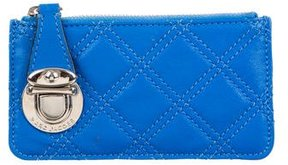 Marc Jacobs Quilted Coin Pouch - BLUE - STYLE