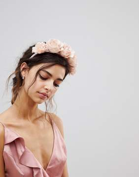 Asos Statement Blush Floral Bridesmaid Headband